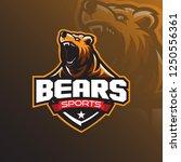 grizzly bear mascot logo design ... | Shutterstock .eps vector #1250556361