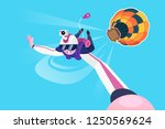 skydiver flying in the free... | Shutterstock .eps vector #1250569624