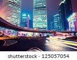 night scene of modern city   Shutterstock . vector #125057054