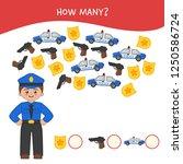 counting educational children... | Shutterstock .eps vector #1250586724