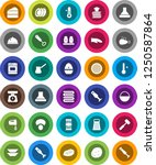 white solid icon set  camping... | Shutterstock .eps vector #1250587864