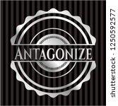 antagonize silvery shiny emblem | Shutterstock .eps vector #1250592577