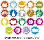 fruits and vegetables icons... | Shutterstock .eps vector #125060141