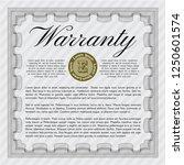 grey warranty certificate... | Shutterstock .eps vector #1250601574