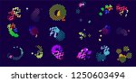 abstract vector background dot... | Shutterstock .eps vector #1250603494