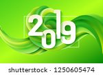 2019 happy new year background... | Shutterstock .eps vector #1250605474