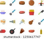 color flat icon set teflon flat ... | Shutterstock .eps vector #1250617747