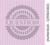 question retro pink emblem | Shutterstock .eps vector #1250621821