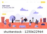 tourism and travel landing page ... | Shutterstock .eps vector #1250622964