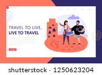 tourism and travel landing page ... | Shutterstock .eps vector #1250623204