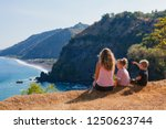 family vacation lifestyle.... | Shutterstock . vector #1250623744