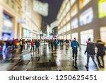 crowd of people walking on...   Shutterstock . vector #1250625451