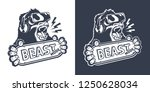 vintage monochrome gaming logo...   Shutterstock .eps vector #1250628034