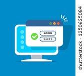 computer with password login on ...   Shutterstock .eps vector #1250635084