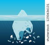 plastic iceberg pollution... | Shutterstock .eps vector #1250636131