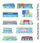 city buildings of supermarket... | Shutterstock .eps vector #1250645761
