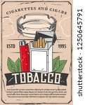 tobacco products selling poster ...   Shutterstock .eps vector #1250645791