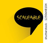 scalable word in speech bubble... | Shutterstock .eps vector #1250648104