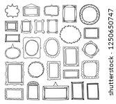 vector frames hand drawn... | Shutterstock .eps vector #1250650747
