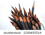 grey pencils in a glass | Shutterstock . vector #1250655214