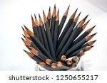 grey pencils in a glass | Shutterstock . vector #1250655217