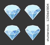 diamond crystal icons set on... | Shutterstock .eps vector #1250665804
