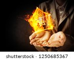 closeup of businessman in black ... | Shutterstock . vector #1250685367
