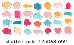 colorful comic speech bubble... | Shutterstock .eps vector #1250685991