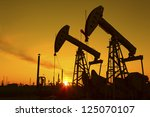 oil pumps. oil industry...   Shutterstock . vector #125070107