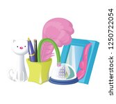 school and office supplies... | Shutterstock .eps vector #1250722054