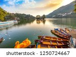 scenic bhimtal lake nainital at ... | Shutterstock . vector #1250724667