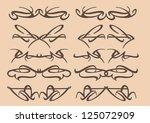 vector vintage decorative... | Shutterstock .eps vector #125072909