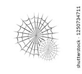 collection of cobweb  isolated... | Shutterstock .eps vector #1250734711