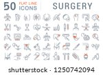 set of vector line icons of... | Shutterstock .eps vector #1250742094