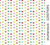 Multicolor Hearts   Seamless...