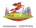 professional horseback riding... | Shutterstock .eps vector #1250747341