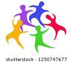 abstract doodle people around   Shutterstock .eps vector #1250747677