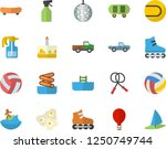color flat icon set cake flat... | Shutterstock .eps vector #1250749744