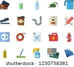 color flat icon set pipes flat... | Shutterstock .eps vector #1250758381