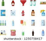 color flat icon set spice flat... | Shutterstock .eps vector #1250758417