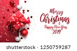 merry christmas and happy... | Shutterstock . vector #1250759287