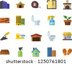 color flat icon set house flat... | Shutterstock .eps vector #1250761801