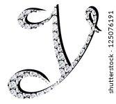 diamond alphabet letters   Shutterstock . vector #125076191