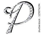 diamond alphabet letters | Shutterstock . vector #125076194