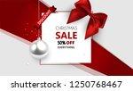christmas sale  discount banner ... | Shutterstock .eps vector #1250768467