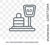 weighing icon. trendy flat... | Shutterstock .eps vector #1250771044