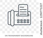 fax icon. trendy flat vector... | Shutterstock .eps vector #1250771227