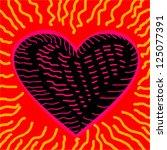 heart on fire | Shutterstock .eps vector #125077391