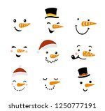 vector snowman illustration set.... | Shutterstock .eps vector #1250777191