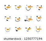 Set Of Funny Snowman Faces....